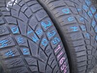 225/50/17 Dunlop 3D, M+S Winter, XL x2 A Pair, 5.9mm (456 Barking Rd, Plaistow, E13 8HJ) Second Hand