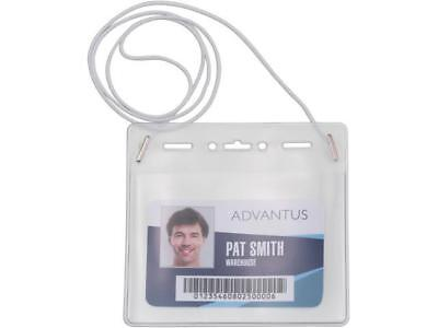 Advantus Horizontal Id Card Holder With Neck Cord