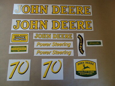 New Decal Set Decals Kit For John Deere 70 Gas Antique Tractor Power Steering