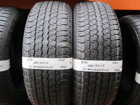O30 2X 265/65/17 100S BRIDGESTONE DUELER H/T 840 2X6MM TREAD