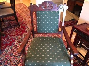 REDUCED- Antique upholstered armchair + rocker- great condition. St. John's Newfoundland image 2