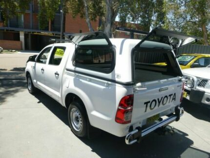 2012 Toyota Hilux GGN15R MY12 SR Double Cab White 5 Speed Automatic Utility