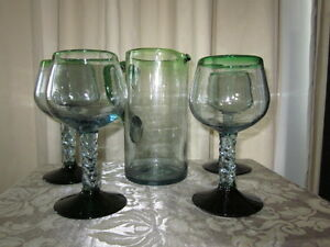 Authentic Mexican Sangria Pitcher & Glasses
