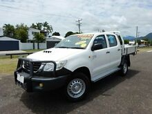2012 Toyota Hilux KUN26R MY12 SR (4x4) White 5 Speed Manual Dual Cab Pick-up Bungalow Cairns City Preview