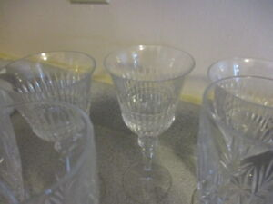 Crystal stemware and glasses
