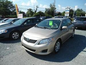 2010 COROLLA WITH POWER WINDOWS, AIR E T C , LOW MILEAGE
