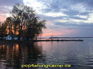Cottage Cabin trailer RV fishing Bass Boat Rent Camping fire BBQ