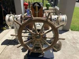 Rare Ships Helm, Compass & 2 x Telegraphs