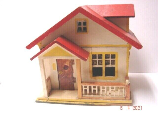 1920 s Red Roof Gottschalk 2 Room Cottage Style Dollhouse - $159.99
