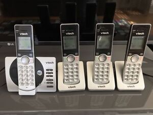 VTech wireless phones with answering machine 4 pack