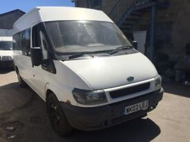2002 Ford Transit 15 seater mini bus diesel, starts and drives well, MOT until 5th October, located