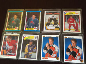 HOCKEY CARDS, 1984 - 1992, INDIVIDUALLY PRICED AND SETS
