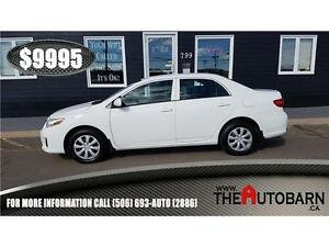 2011 TOYOTA COROLLA CE - CRUISE, CD PLAYER - ONLY 53661KM