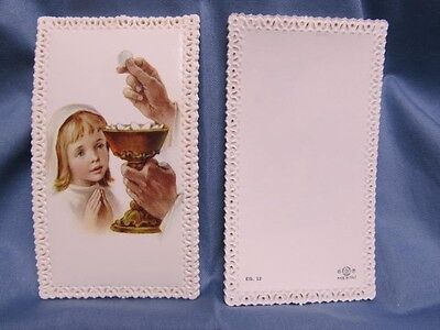 Vintage Girl First Communion Lace Prayer Card (First Communion Prayers)