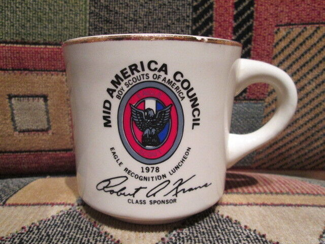 BOY SCOUTS OF AMERICA - Mid America Council - 1978 Eagle Recognition  - BSA  Mug