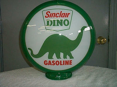 gas pump globe SINCLAIR reproduction 2 glass lenes in a GREEN plastic body NEW