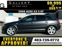 2006 Audi A3 2.0T Sportback $99 bi-weekly APPLY NOW DRIVE NOW