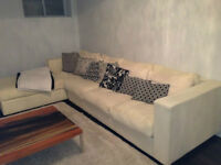Sectional couch- off white color