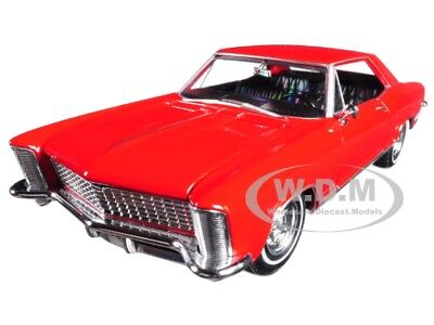 1965 BUICK RIVIERA GRAN SPORT RED 1:24-1:27 DIECAST MODEL CAR BY WELLY -