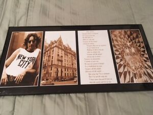 "John Lennon  "" Imagine "" Photo and lyrics Framed"