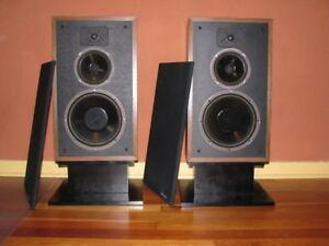 2 SPEAKERS POLK AUDIO MONITOR 7B PEERLESS TWEETER VINTAGE (MINT)