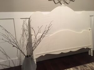 Antique white double bed