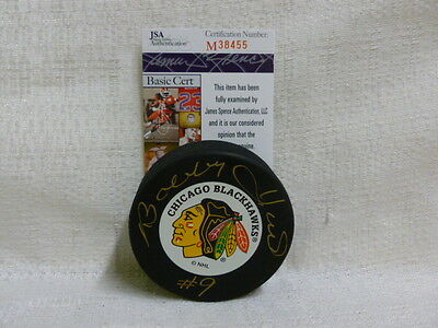 Bobby Hull Signed Chicago Blackhawks NHL Rare Vintage Hockey Puck JSA M38455