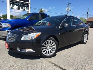 2011 Buick Regal CXL / RARE FIND, LOW KMS, BLACK ON BLACK !!