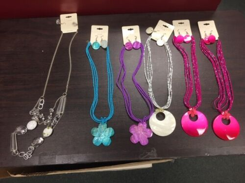 WHOLESALE LOT OF 6 MAR Y SOL  FASHION  NECKLACE & EARRING JEWELRY SETS NEW