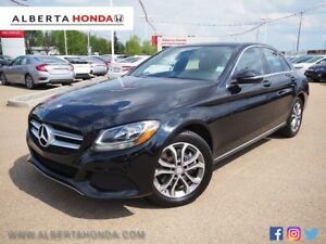 2016 Mercedes-Benz C-Class PREM PKG, AWD, WARRANTY, LOW KM'S