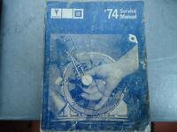PONTIAC 1974 SHOP MANUEL DE GM (tout les modèles)