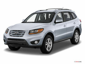 2011 Hyundai Santa Fe avec demarreur distance -roof & bike racks