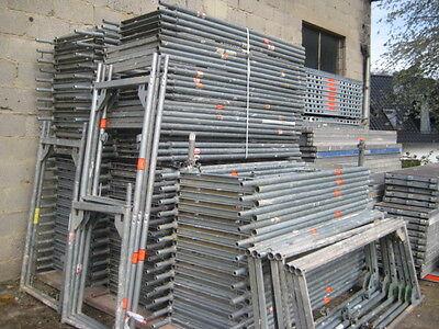 Gebrauchtes Gerüst Layher/Assco/MJ ca. 97 m² mit 3,07 Stahlböden Baugerüst