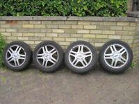 "Set of 15"" alloy wheels plus centre caps, wheel-nuts & lock-nuts."