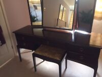 Stag Minstrel Dressing Table with triple mirrors