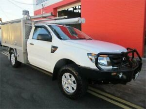 2014 Ford Ranger PX XL 3.2 (4x4) White 6 Speed Automatic Cab Chassis Croydon Burwood Area Preview