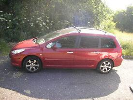 Peugeot 307 SW SE HDI 110 Estate 1.6cc Diesel 12 months MOT reduced for quick sale