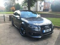 AUDI A3 S LINE 2.0 TDI DSG 5 DR SPORTBACK FULL 2012 S3 BLACK EDITION REPLICA FULLY LOADED PAN ROOF