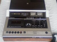 SONY TC-177SD CASSETTE DECK WITH PERSPEX PLINTH. GOOD CONDITION.