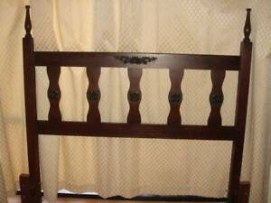 Vintage Solid Timber Bedhead - Double Bed or Queen Bed Brassall Ipswich City Preview