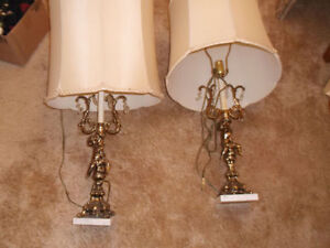 Vintage Cherubs Lamps Great working order. Not Antiques