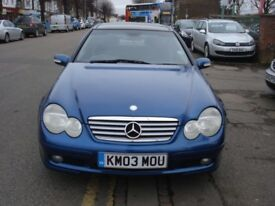 Mercedes-Benz C CLASS 2.1 C220 CDI Evolution Panorama Auto, 2003 model, Full MOT, FSH, Full Leather