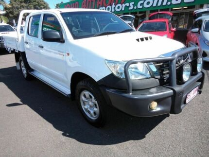 2012 Toyota Hilux KUN26R MY12 SR (4x4) White 5 Speed Manual Dual Cab Mount Gravatt Brisbane South East Preview