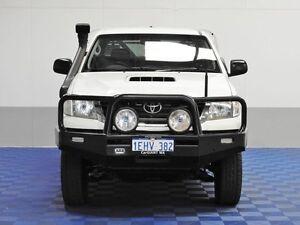 2013 Toyota Hilux KUN26R MY12 SR (4x4) White 5 Speed Manual Dual Cab Chassis Jandakot Cockburn Area Preview