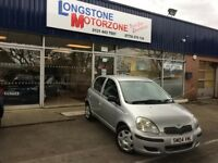 2004 04 TOYOTA YARIS 1.3 T3 VVT-I 5d 86 BHP FREE 12 MONTHS MOT **** GUARANTEED FINANCE ****