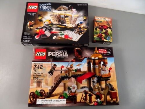 3 Sealed in Box LEGO Sets - Explosion Studio, Bionicle, Prince of Persia - LOT