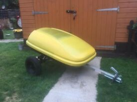 Heavy Duty Lockable Vehicle Trailer Great For Car Mobility Scooter Etc Only £125