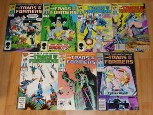 TRANSFORMERS COMIC BOOKS G1 MARVEL, DREAMWAVE, & IDW