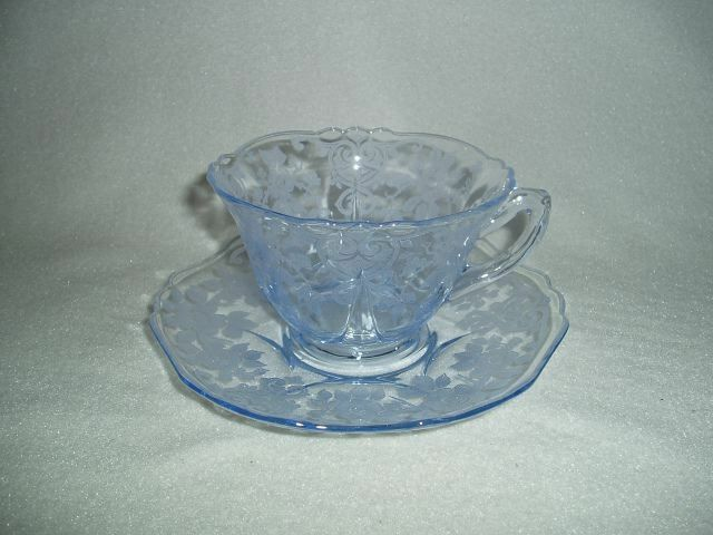 Cambridge Apple Blossom Blue Cup & Saucer