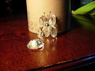 SWAROVSKI Silver Crystal Mini Butterfly 7667 NR035 original box + COA broken